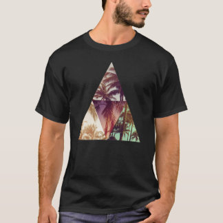 Triangle hipster palms paradise t-shirt