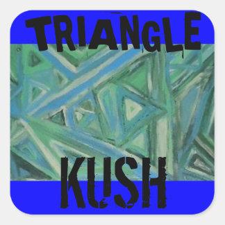 TRIANGLE KUSH SQUARE STICKER
