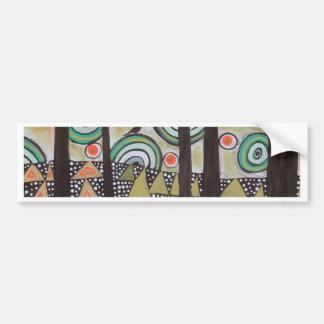 Triangle Landscape Design Bumper Sticker