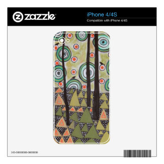 Triangle Landscape Design Skin For The iPhone 4