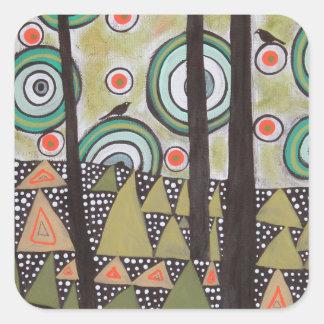 Triangle Landscape Design Square Sticker