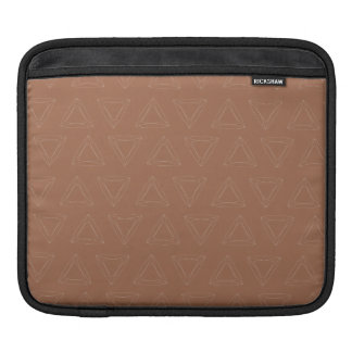 Triangle Lines brown earth brown Sleeves For iPads