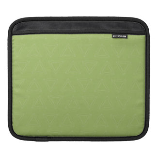 Triangle Lines brown green white iPad Sleeves