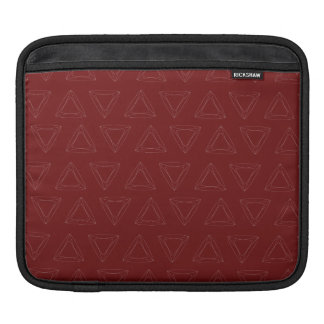 Triangle Lines red white Sleeve For iPads