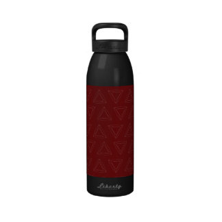 Triangle Lines red white Reusable Water Bottle