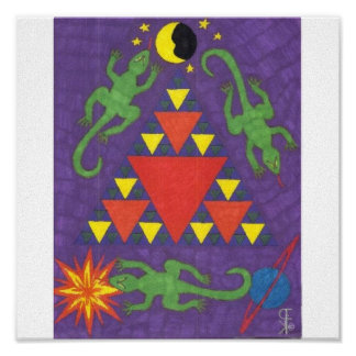Triangle Lizards Posters