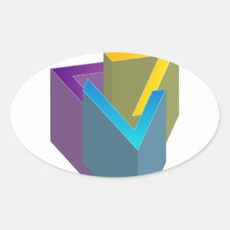 Triangle magic oval sticker