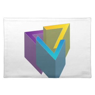 Triangle magic cloth placemat