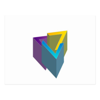 Triangle magic postcard