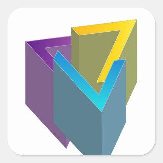 Triangle magic square sticker