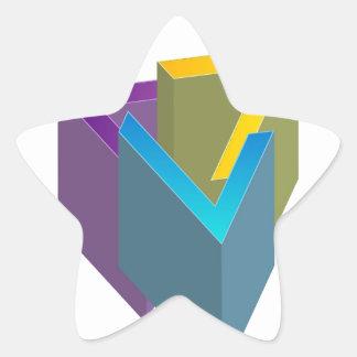 Triangle magic star sticker