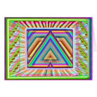 Triangle Mandala Art - HappyBirthday HappyHoliday Card