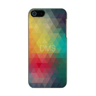 Triangle Monogram Metallic Phone Case For iPhone SE/5/5s