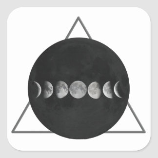 Triangle Moon Square Sticker