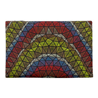 Triangle mosaic pattern travel accessories bag