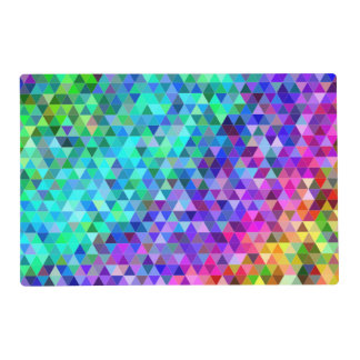 Triangle mosaic rainbow placemat