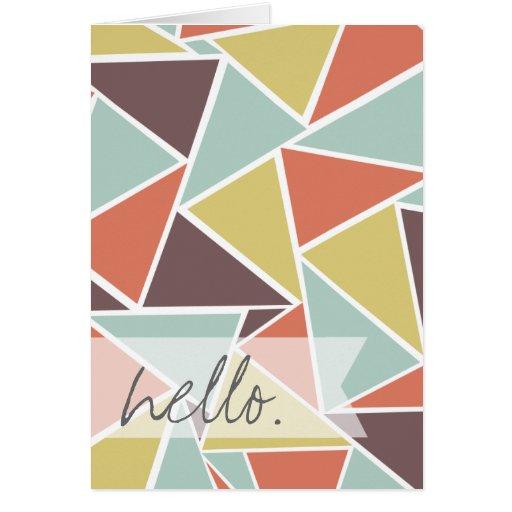triangle notecard