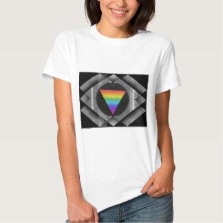 Triangle On Black Tee Shirt