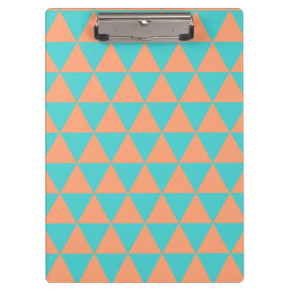 triangle patter orange and blue clipboard