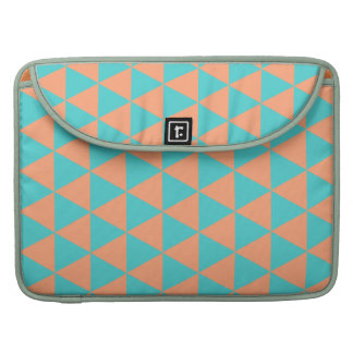 triangle patter orange and blue sleeve for MacBook pro
