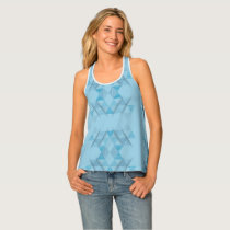 Triangle Pattern #048cb7 Tank Top
