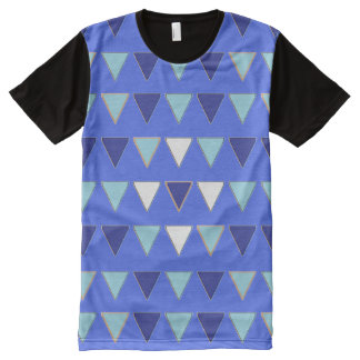 Triangle pattern All-Over-Print T-Shirt