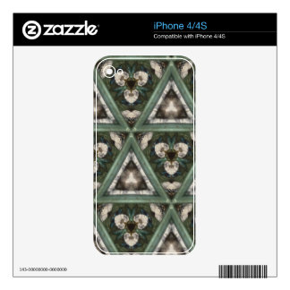 Triangle pattern decal for iPhone 4