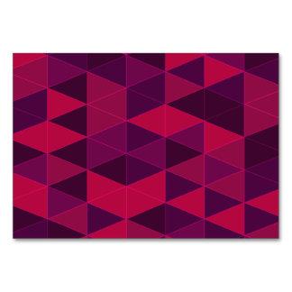 Triangle pattern in purple tones card
