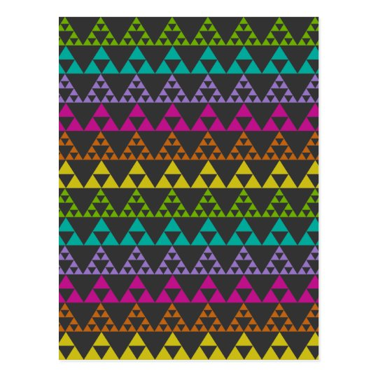Triangle Pattern Postcard