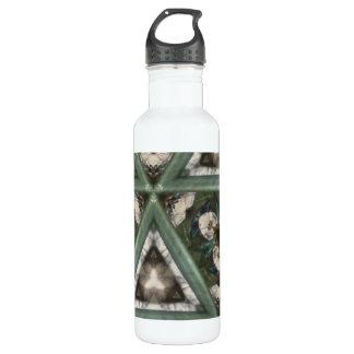 Triangle pattern stainless steel water bottle