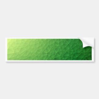 Triangle polygonal pattern bumper sticker