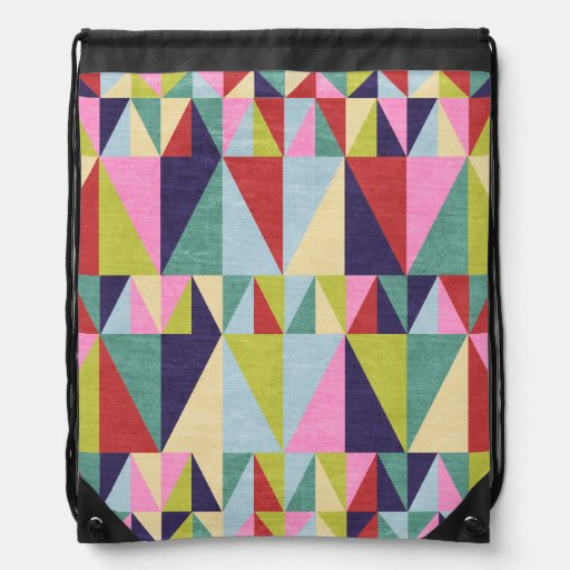 Triangle Pop Art Drawstring Bags