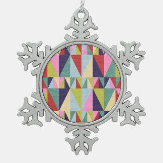 Triangle Pop Art Snowflake Ornament