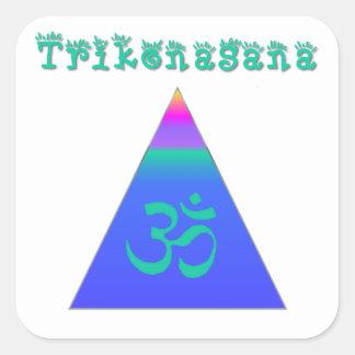 Triangle Pose Square Sticker