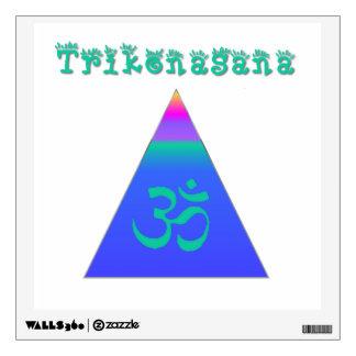 Triangle Pose Wall Sticker