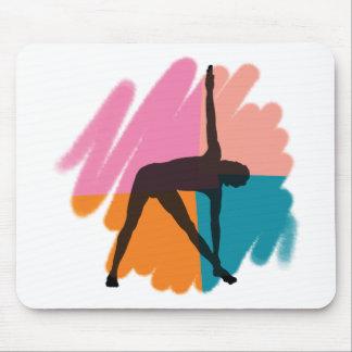 Triangle Pose Yoga Gift Mouse Pad