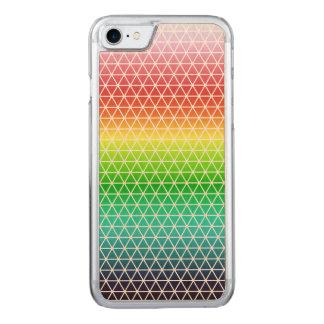 Triangle Rainbow Geometric Framework Tessellation Carved iPhone 8/7 Case