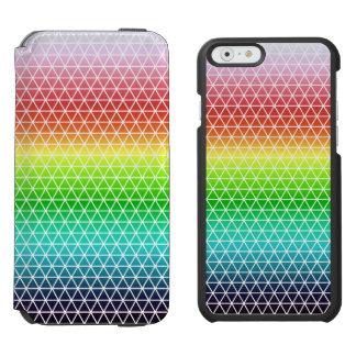 Triangle Rainbow Geometric Framework Tessellation iPhone 6/6s Wallet Case