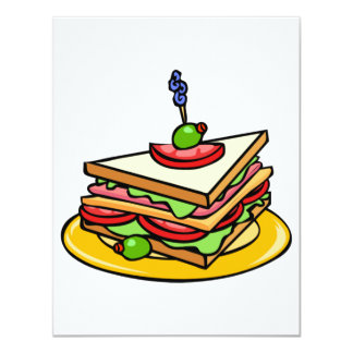 Triangle Sandwich Invitations