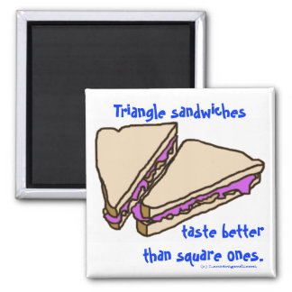 Triangle Sandwiches Fridge Magnets
