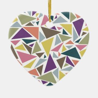 Triangle Scatter Ceramic Ornament