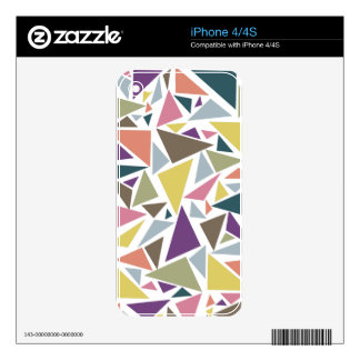 Triangle Scatter iPhone 4S Decals
