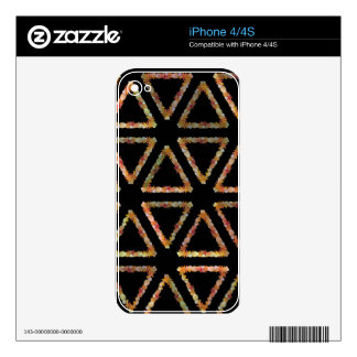 Triangle Sea Shells iPhone 4S Decal