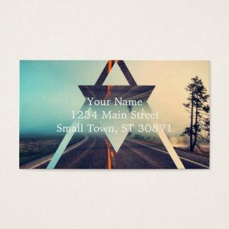 Triangle Shape Background Bright Pyramid Design Business Card