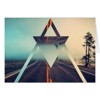 Triangle Shape Background Bright Pyramid Design Card