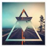 Triangle Shape Background Bright Pyramid Design Photo Print