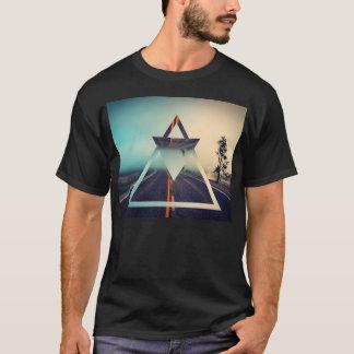 Triangle Shape Background Bright Pyramid Design T-Shirt