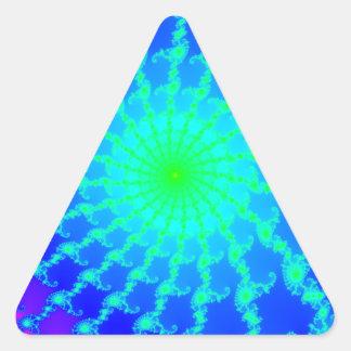 Triangle Shaped Sticker w/ Mandelbrot Fractal