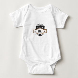 triangle snail badge baby bodysuit