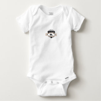 triangle snail badge baby onesie